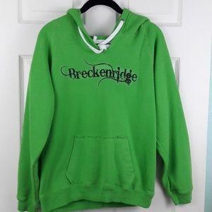 Breckenridge Colorado S Green Pullover Hoodie